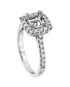18K White Gold Diamond Ring 19076