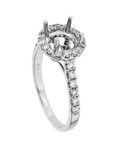 18K White Gold Diamond Ring 19285