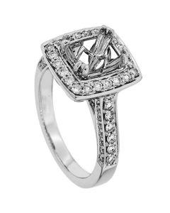 18K White Gold Diamond Ring 19391