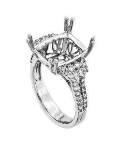 18K White Gold Diamond Ring 19404