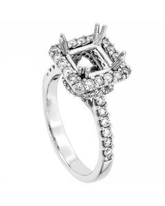 18K White Gold Diamond Ring 19405