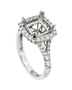 18K White Gold Diamond Ring 19409