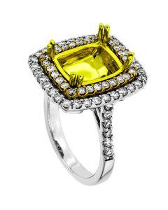18K White Gold Diamond Ring 19421