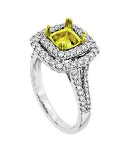 18K White Gold Diamond Ring 19425