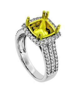 18K Two-Tone Diamond Ring