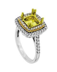 18K Three-Tone Diamond Ring