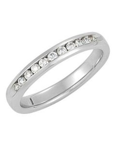 14K Gold Eternity Wedding Band