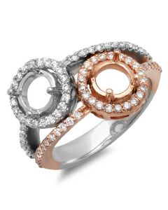 14K White & Rose Gold Engagement Ring